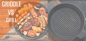 griddle vs grill food image